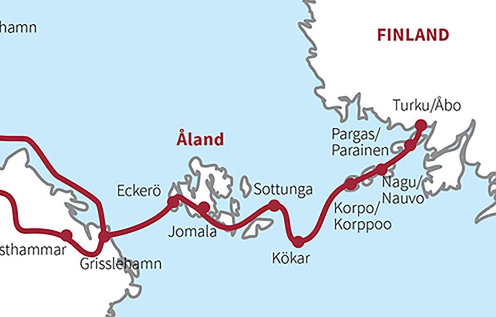 karta över ÅLand