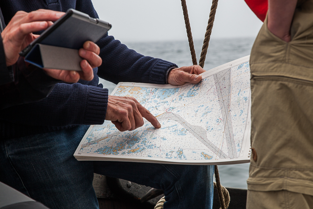 Navigating at sea
